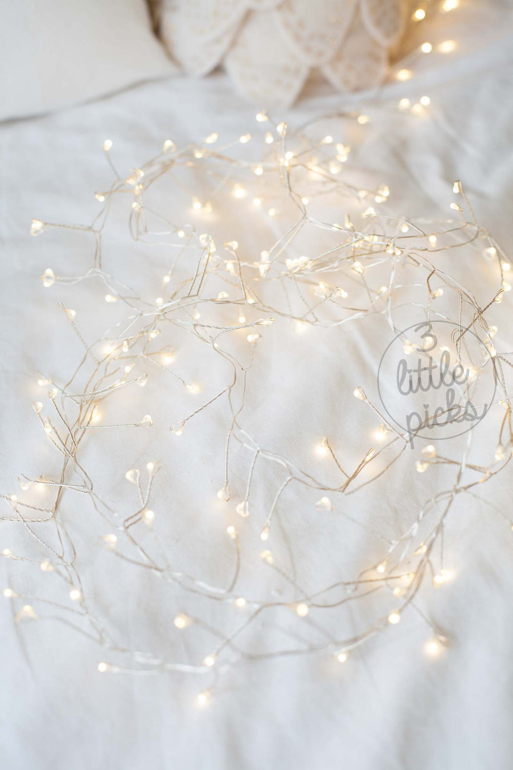 Sparkly Cluster Garland LED Lights, Decor, 3littlepicks - 3LittlePicks