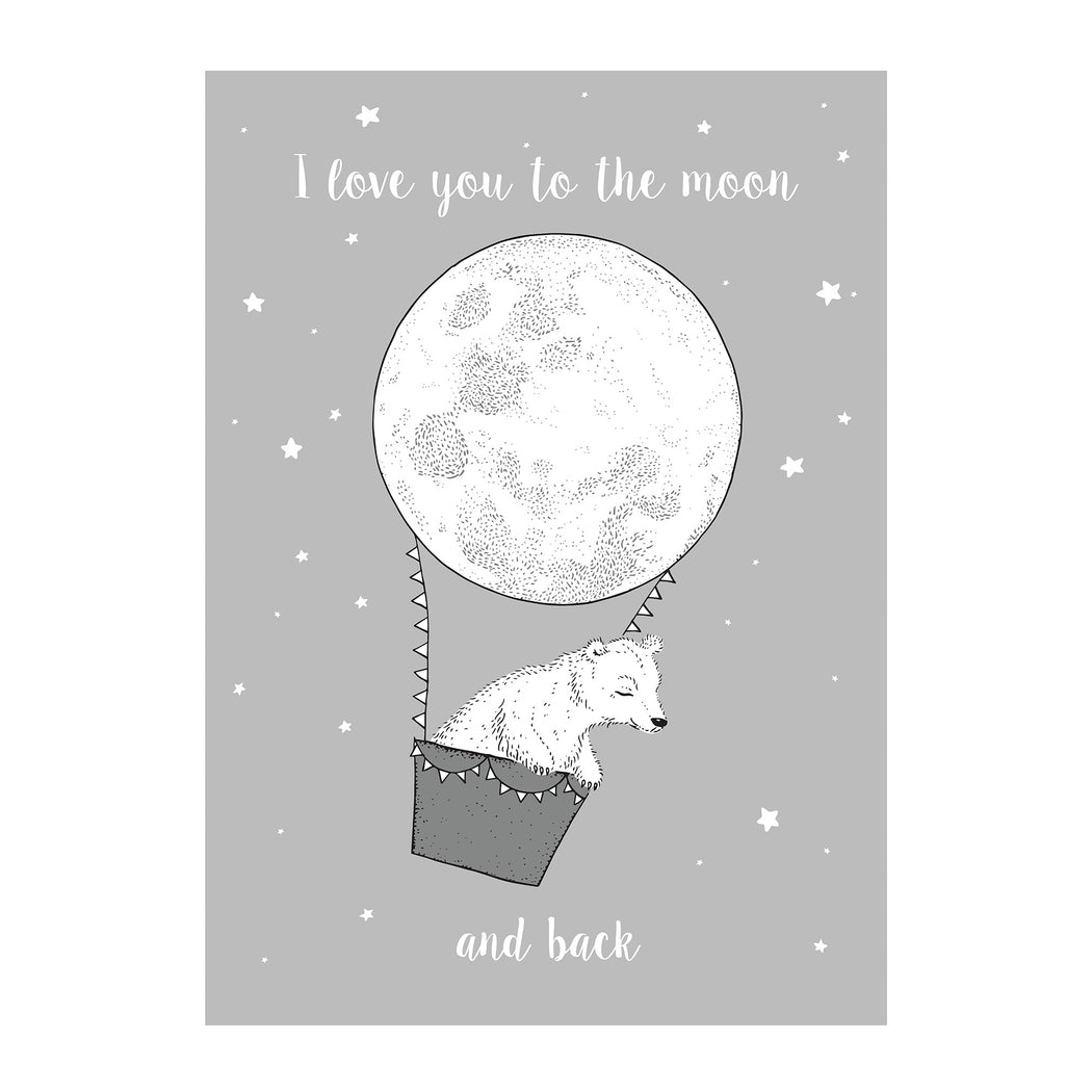 Moon And Back Poster, Decor, Bloomingville - 3LittlePicks