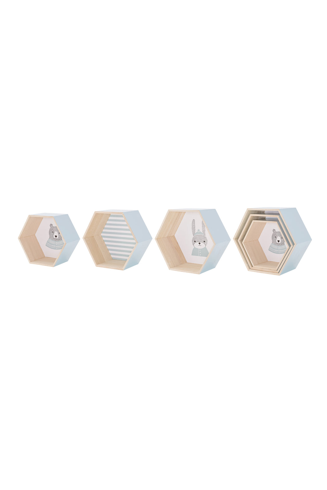 Hexgaonal Display Boxes, Storage, Bloomingville - 3LittlePicks