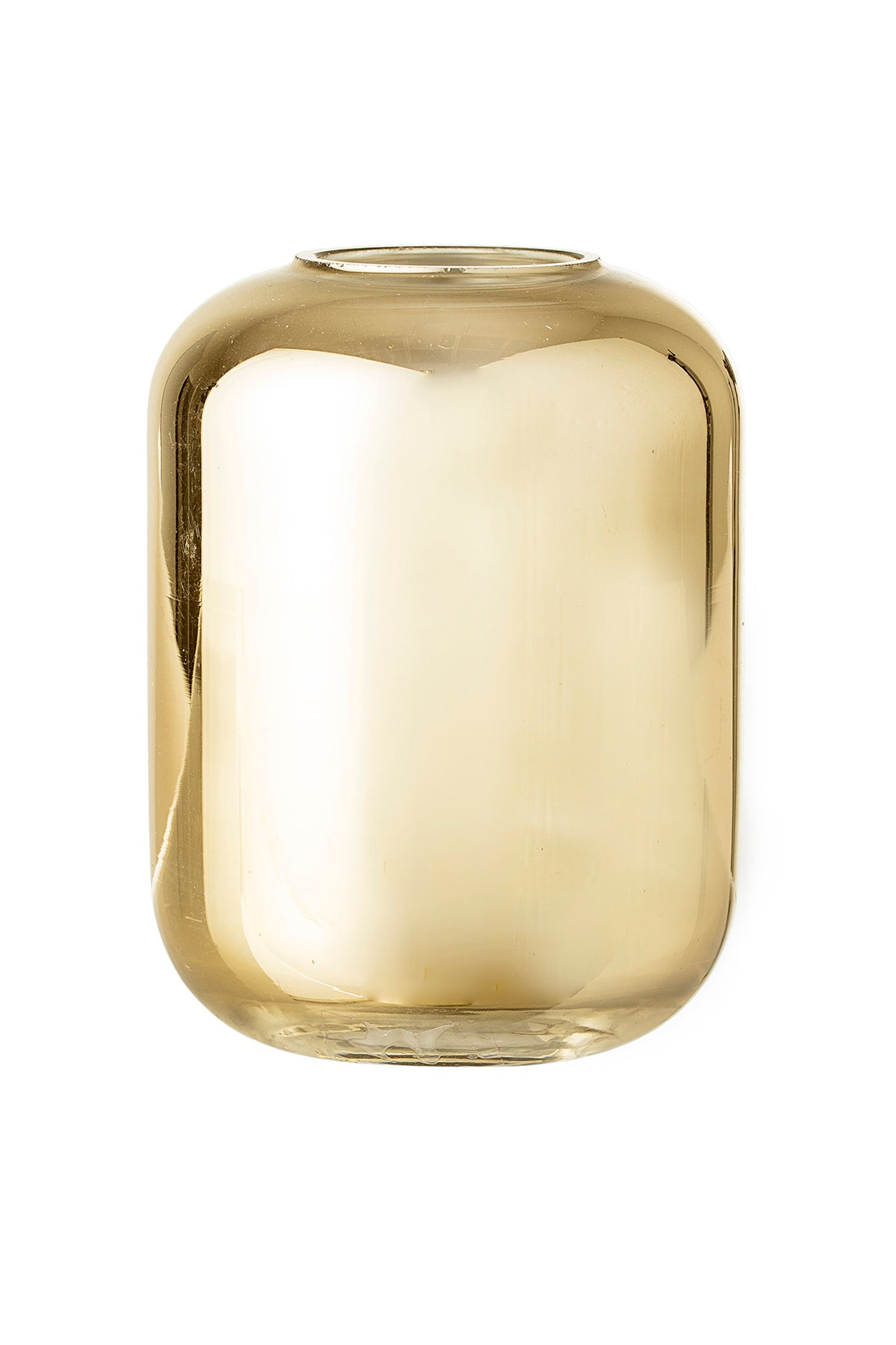 Simple Golden Glass Vase, Vase, Bloomingville - 3LittlePicks