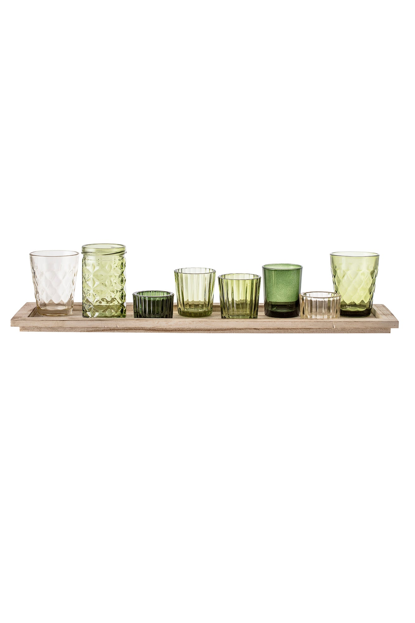 Glass Votive Long Tray, Vase, Bloomingville - 3LittlePicks