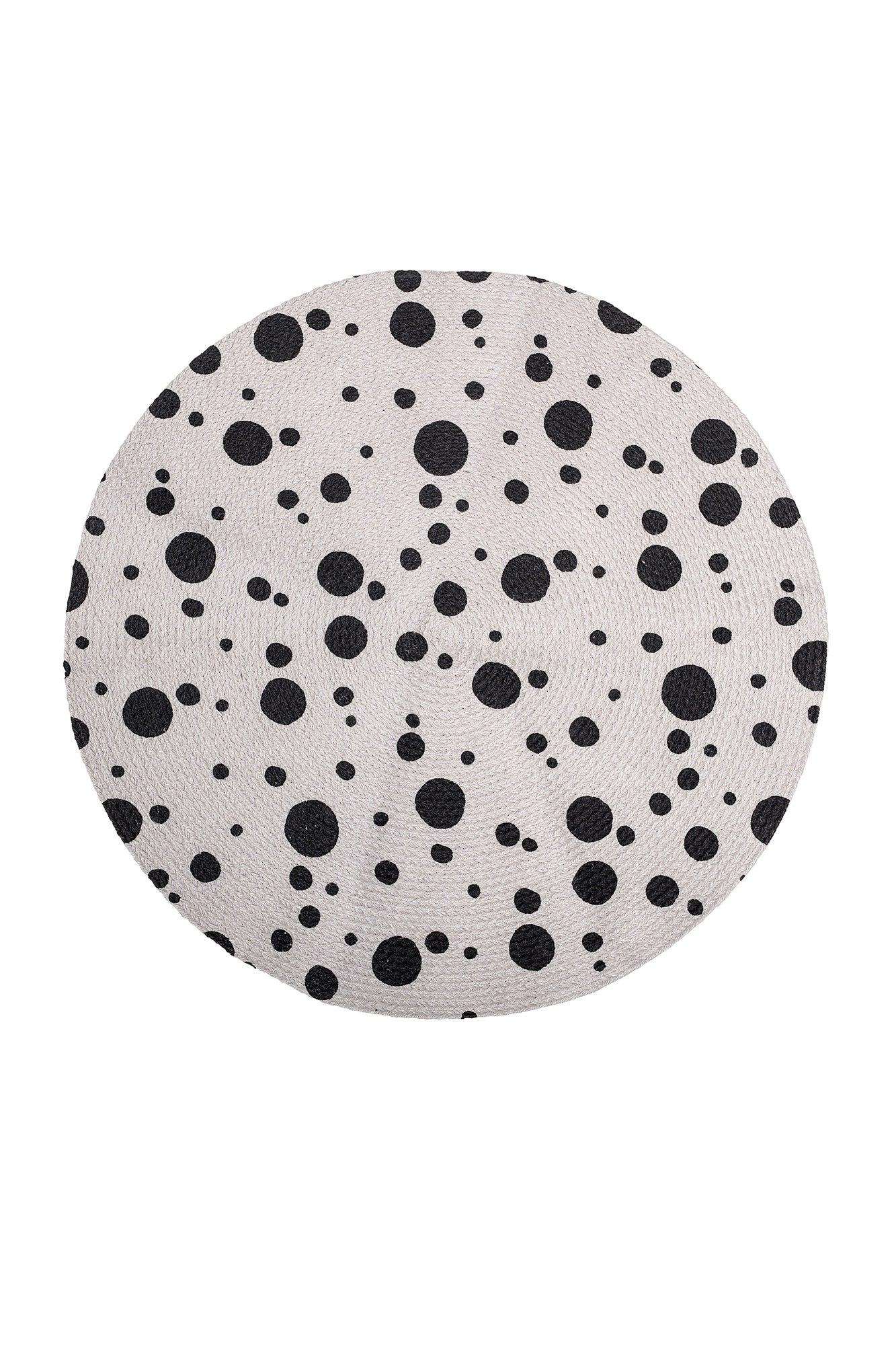 Black Dots Rug, Textile, Bloomingville - 3LittlePicks