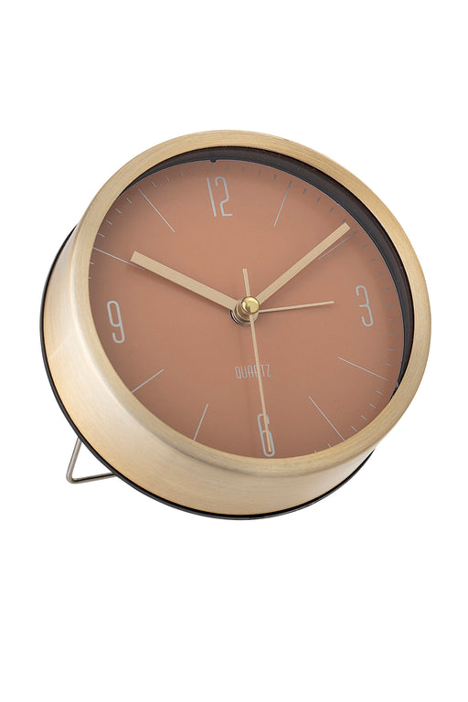 Gold Orange Table Clock