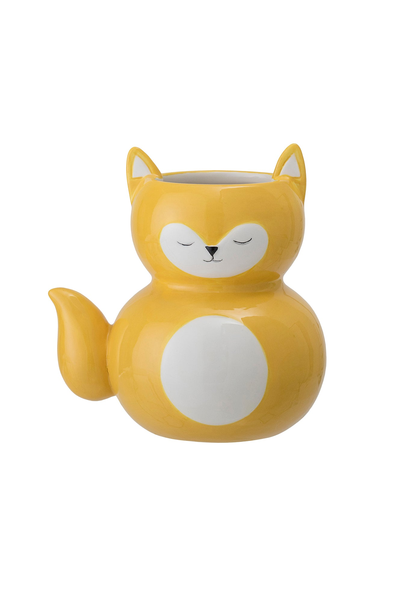 Yellow Fox Flowerpot