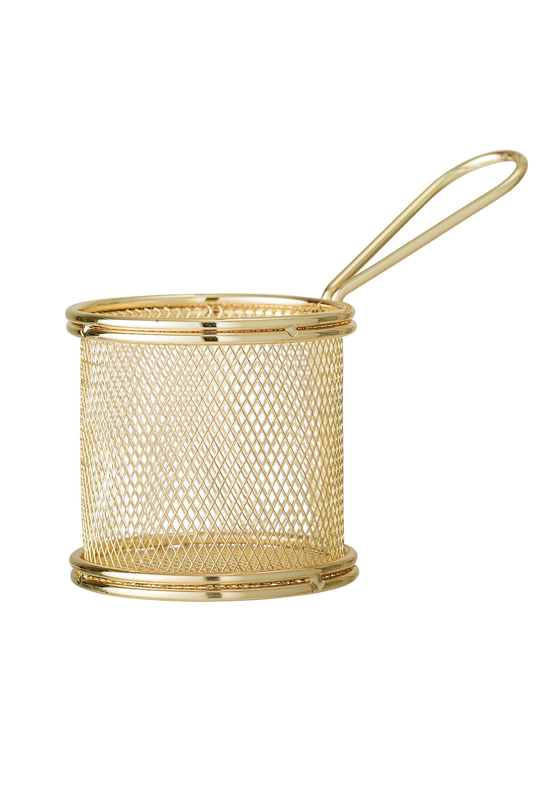 Golden Serving Basket