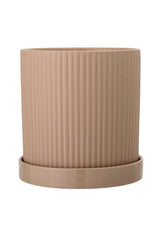 Matt Rose Brown Flowerpot