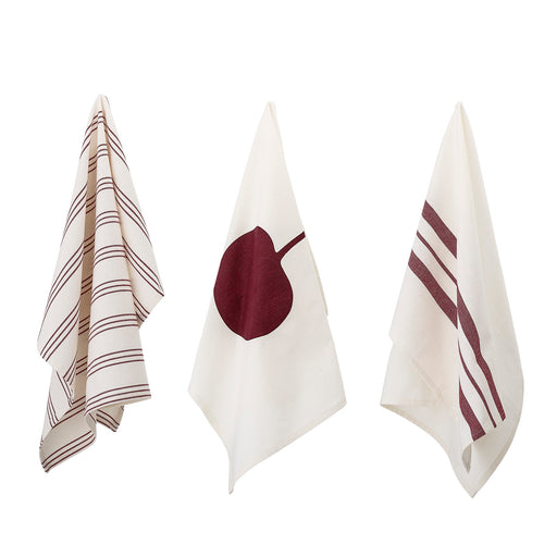 Cherry and Stripes Kitchen Towel Set