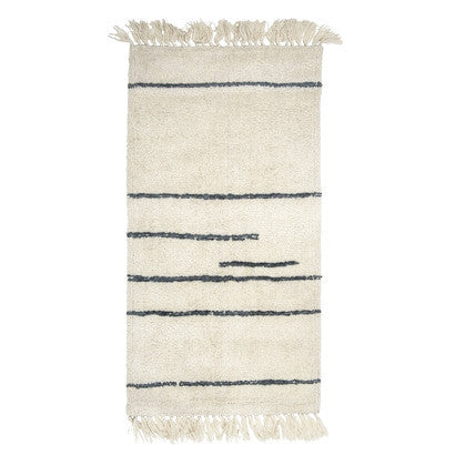 Cream Wool Rug, Textile, Bloomingville - 3LittlePicks