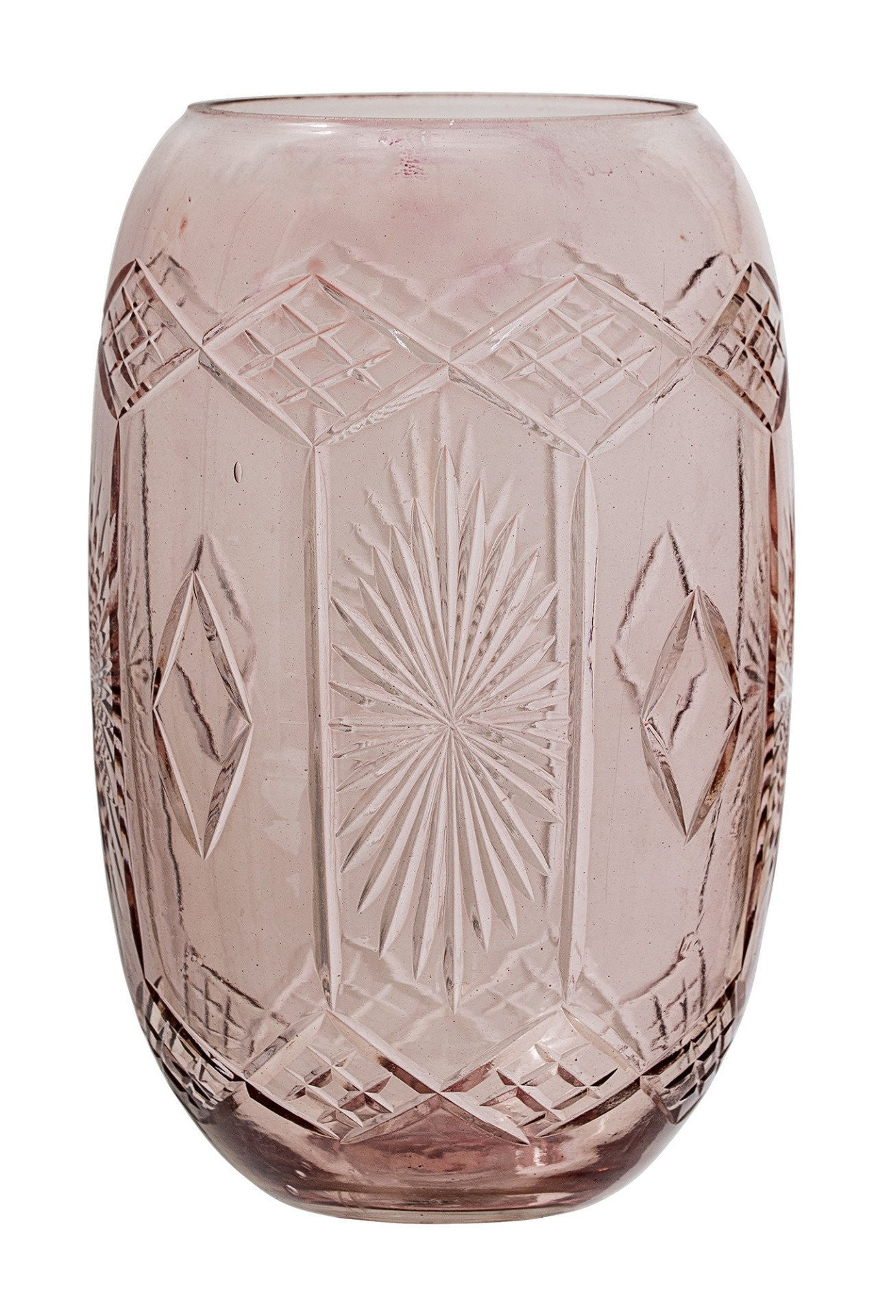 Rose Etched Glass Vase