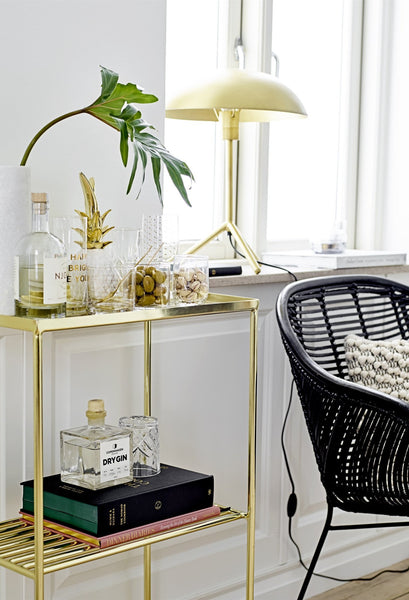 Golden Grid Side Table