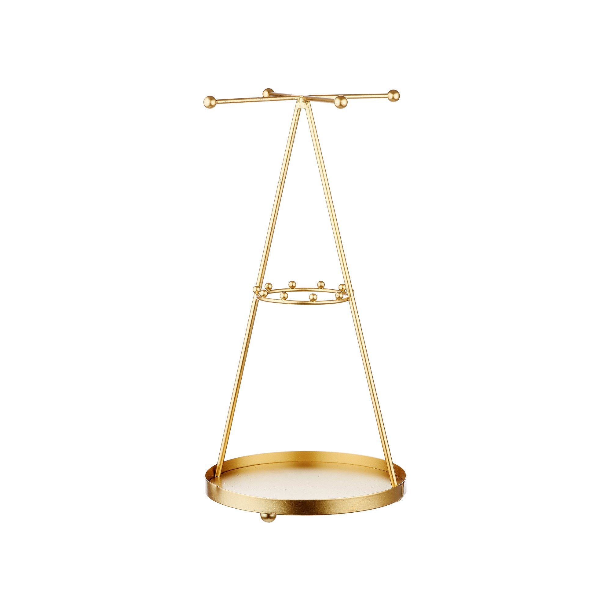 Golden Pyramid Jewellery Stand