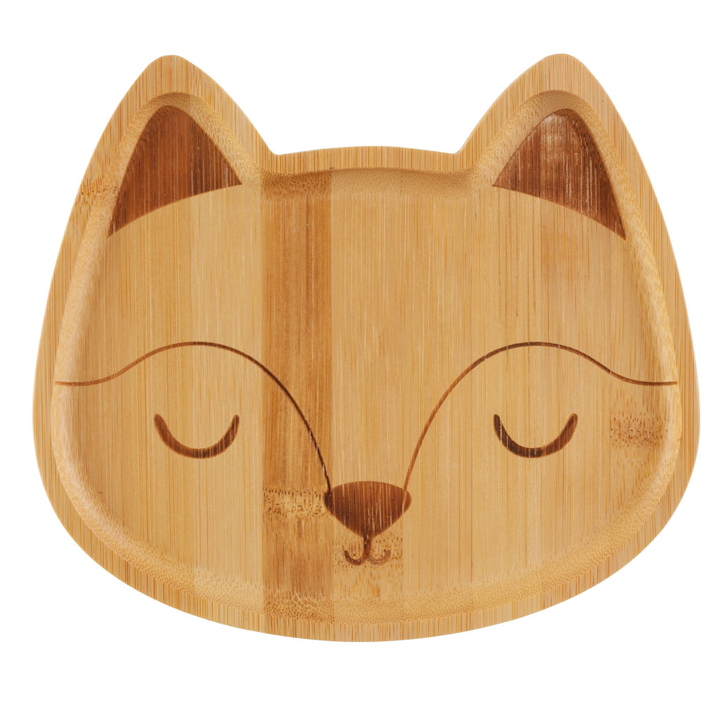 Woodland fox bamboo plate, Dining, Sass & Belle - 3LittlePicks