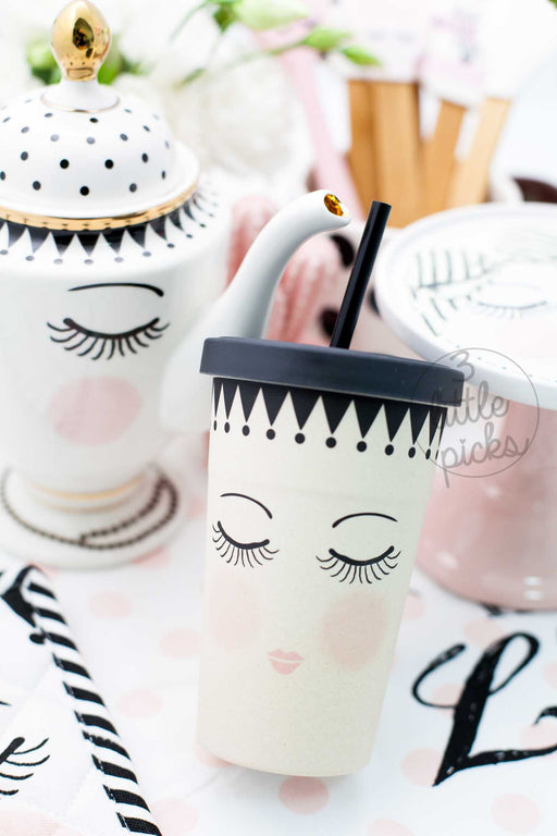 Eyes and Dots Tumbler, Drinkware, Miss Etoile - 3LittlePicks