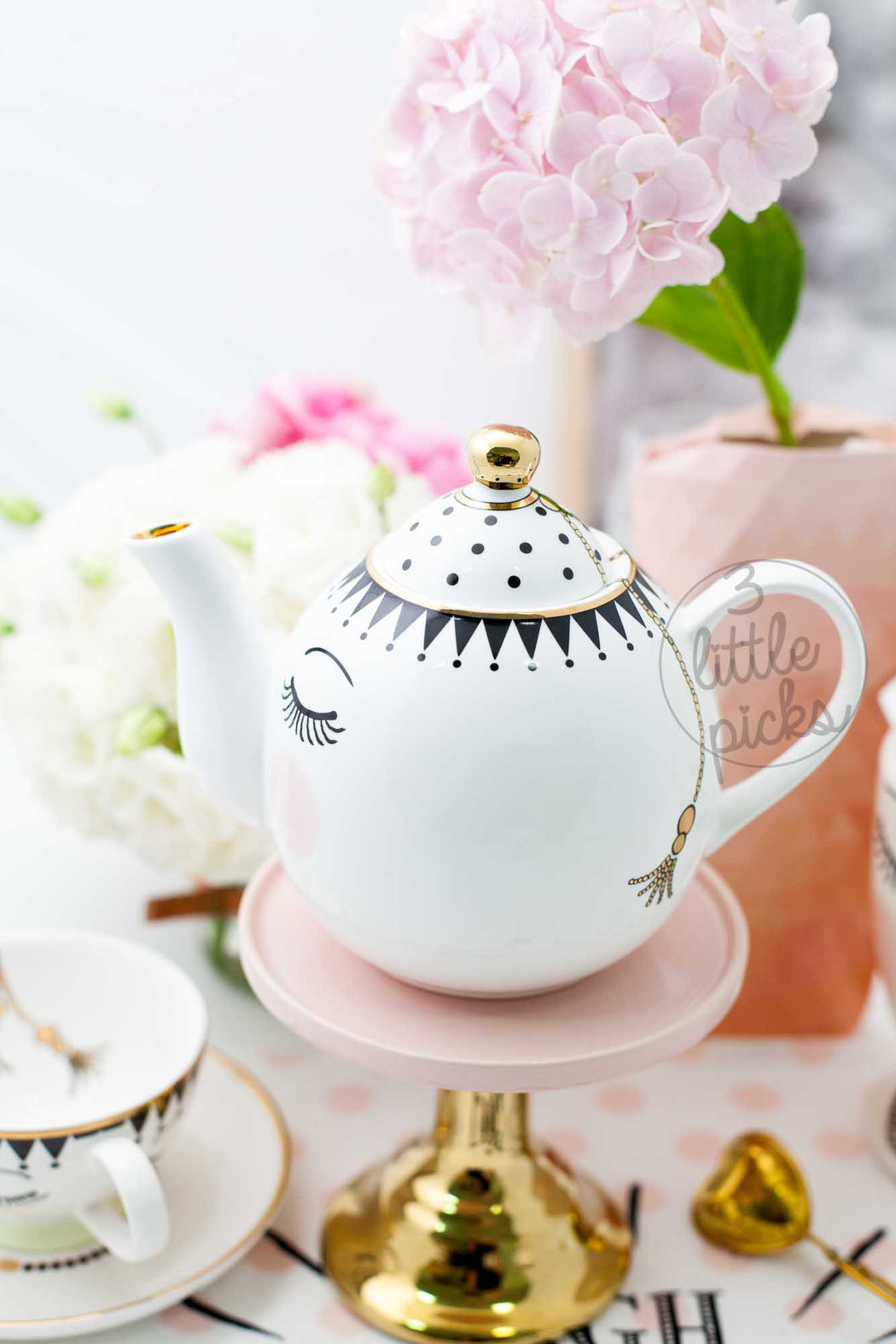 Eyes and Dots Teapot, Drinkware, Miss Etoile - 3LittlePicks
