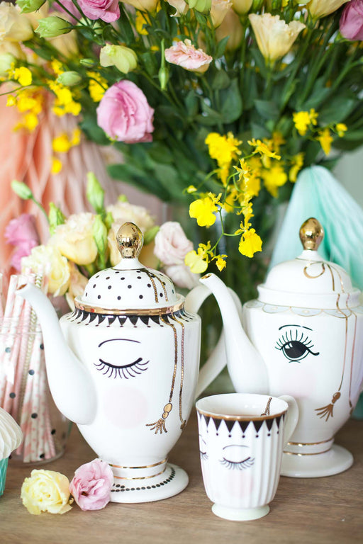 Pretty Eyes Teapot, Drinkware, Miss Etoile - 3LittlePicks