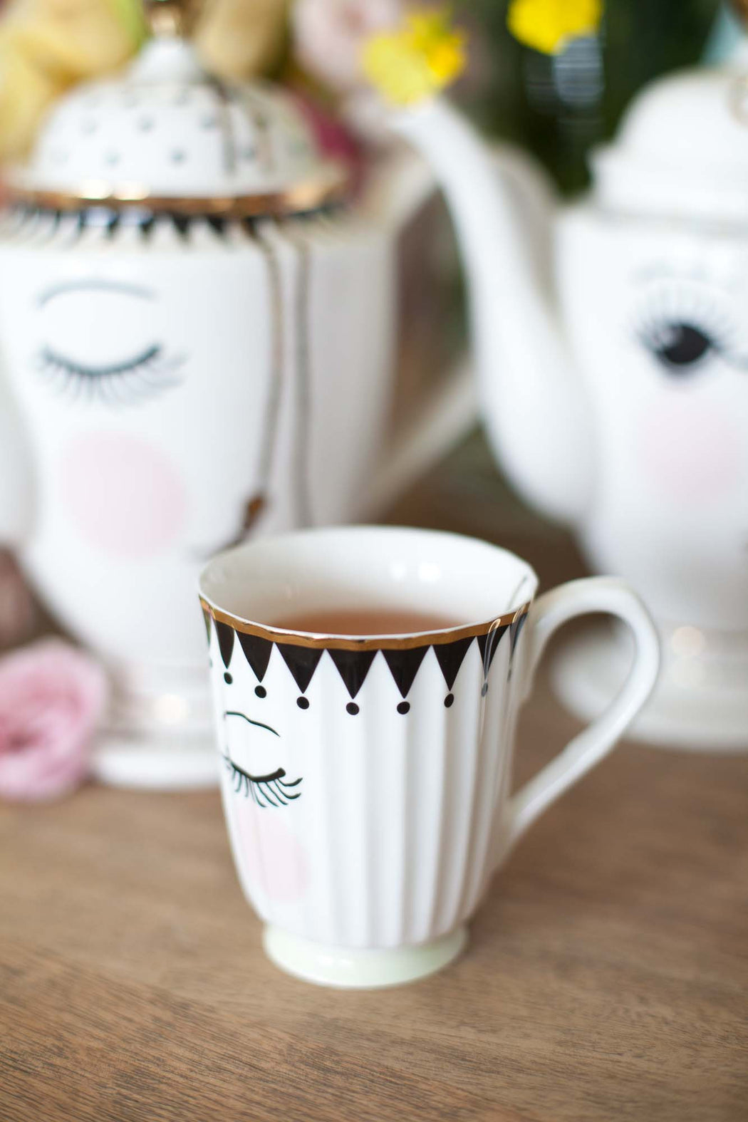 Pretty Eyes Coffee Cup, Drinkware, Miss Etoile - 3LittlePicks
