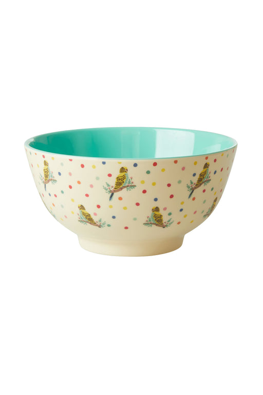 Budgie Two Tone Melamine Kids Medium Bowl