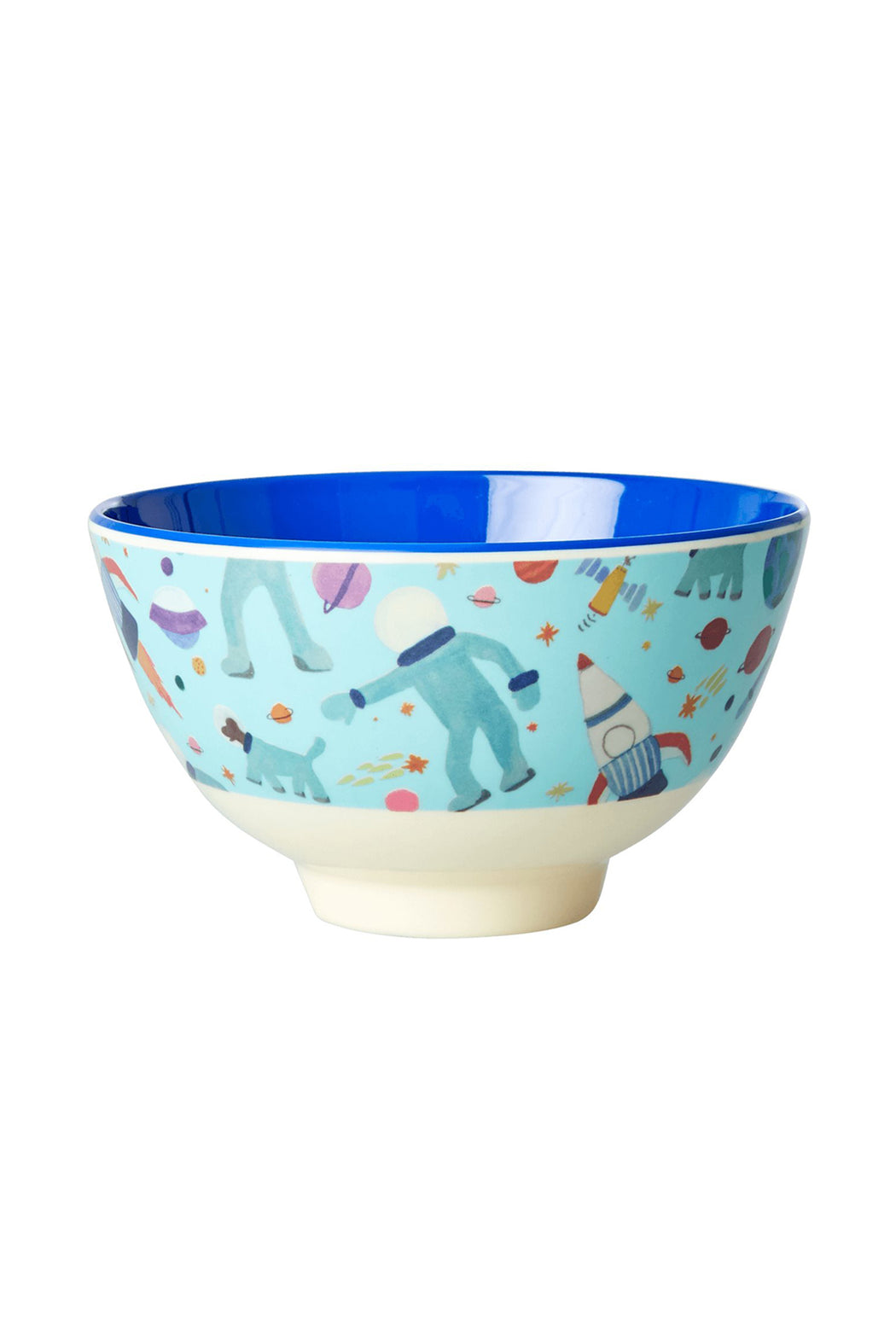 Space Two Tone Melamine Kids Small Bowl