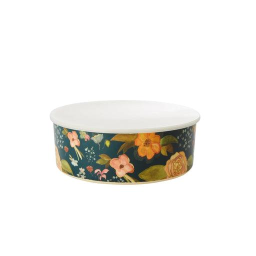 Floral Print Bowl Set With Lid