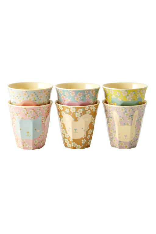 Pastel Animal Melamine Cups