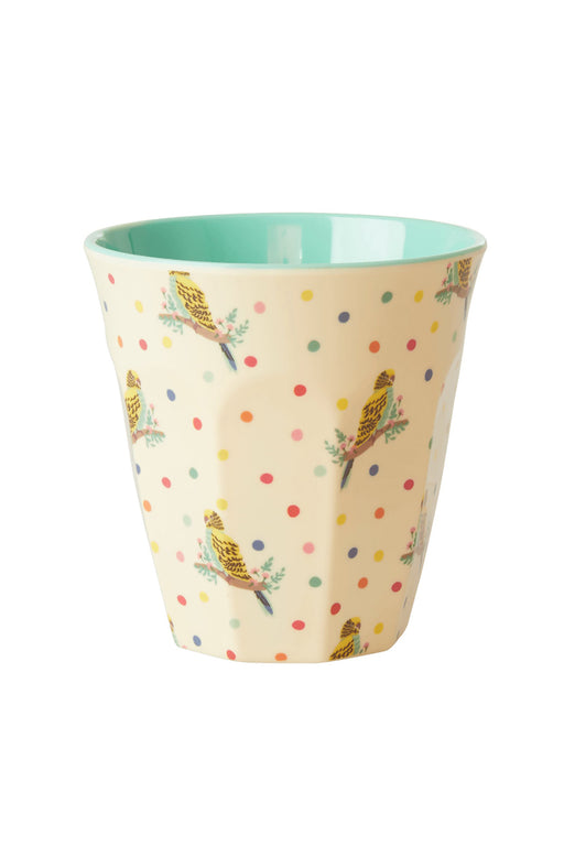 PRE-ORDER: Budgie Two Tone Medium Melamine Cup