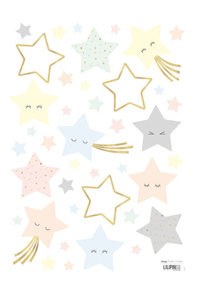Smiley Stars Vinyl Decal