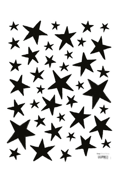 Little Black Stars Vinyl Decal