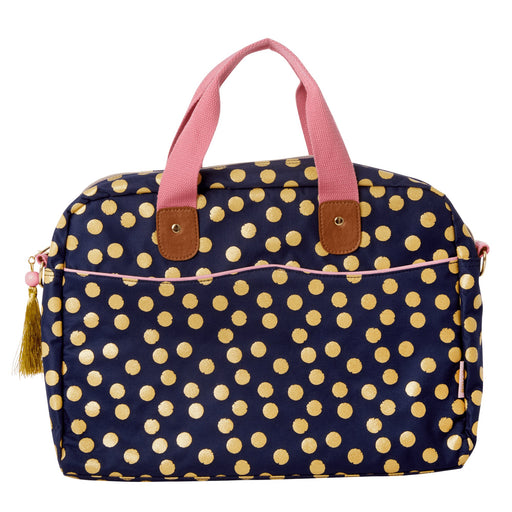 Golden Polka Laptop Bag