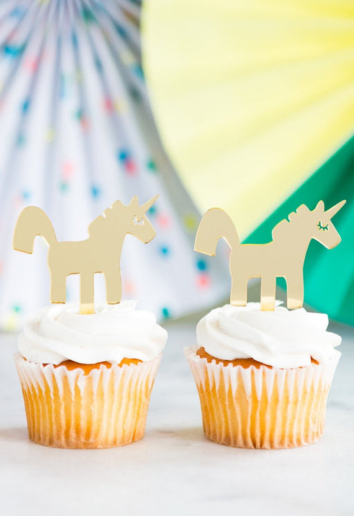 Neon Unicorn Acrylic Cupcake Topper, Partyware, My Mind's Eye - 3LittlePicks
