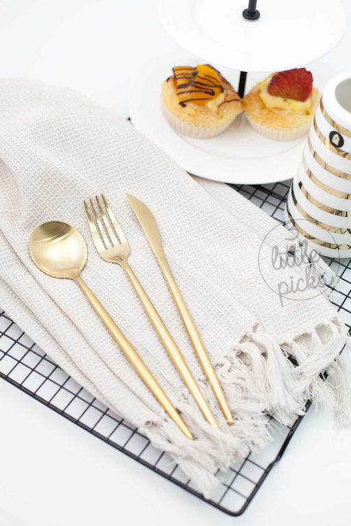 COMING BACK: Elegant Matt Gold, Utensils, 3littlepicks - 3LittlePicks