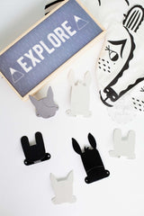 Animal Hook, Clothes Hanger, Wood Rabbit - 3LittlePicks