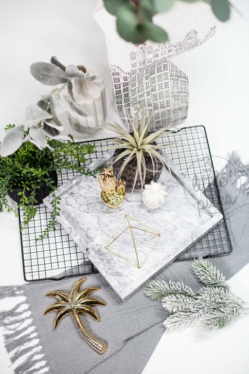 COMING BACK: Light Grey Marble Tray