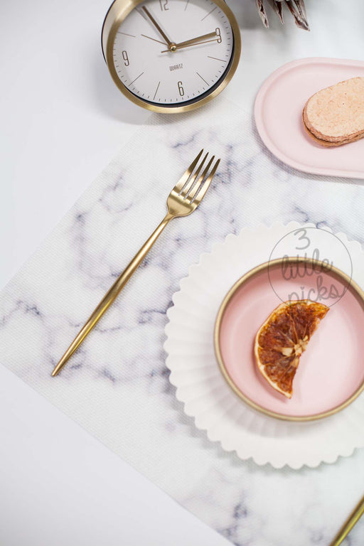 COMING BACK: Marble Effect PVC Placemat