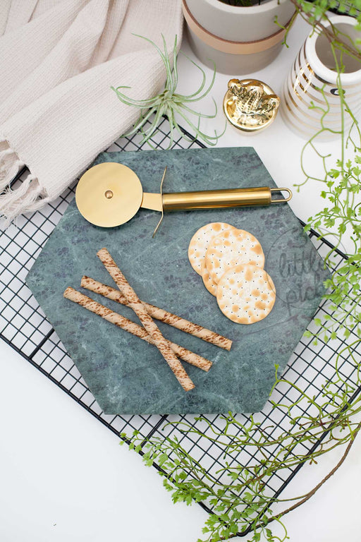 Green Hexagonal Marble Tray, Decor, Bloomingville - 3LittlePicks