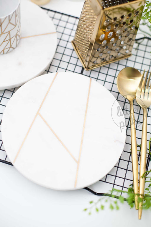 Round White Marble Plate
