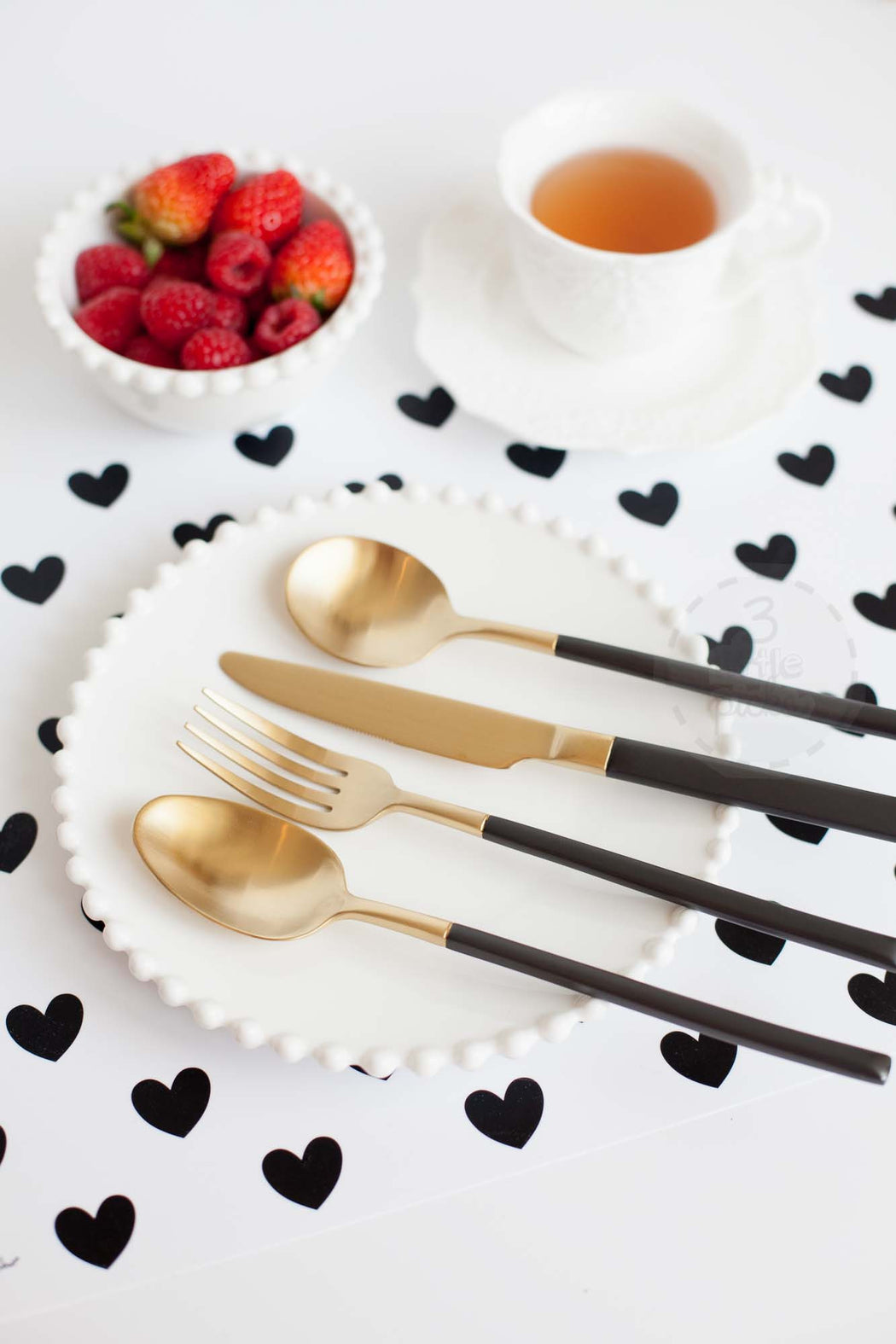 Black and Gold Cutleries, Utensils, 3littlepicks - 3LittlePicks