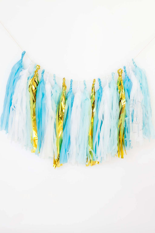 Blue Tassel Garland Kit, Partyware, 3littlepicks - 3LittlePicks