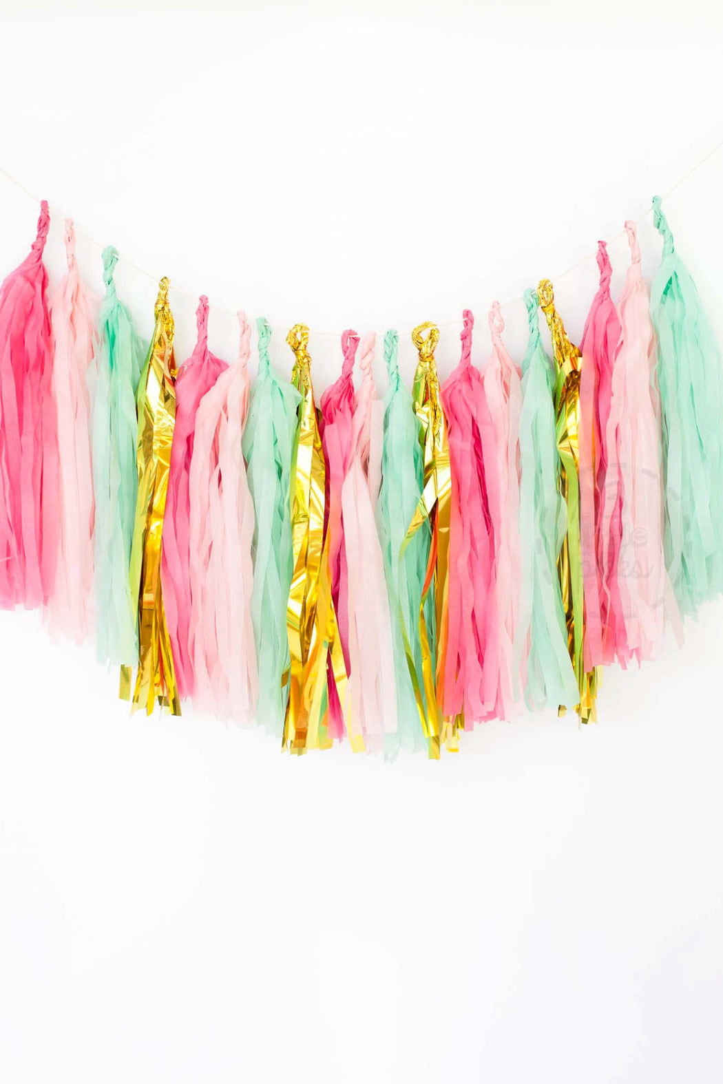 Mint And Pink Tassel Garland Kit, Partyware, 3littlepicks - 3LittlePicks