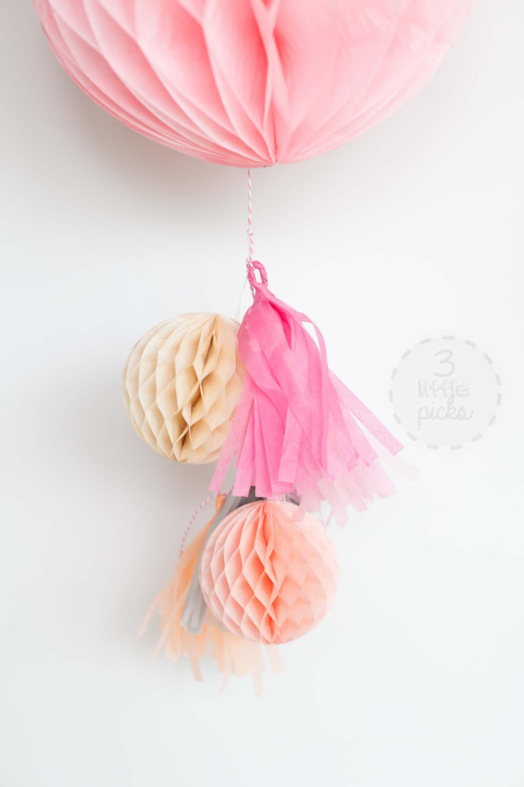 Honeycomb Tassel Kit, Partyware, 3littlepicks - 3LittlePicks