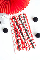 Black and Red Polka Hearts, Partyware, 3littlepicks - 3LittlePicks