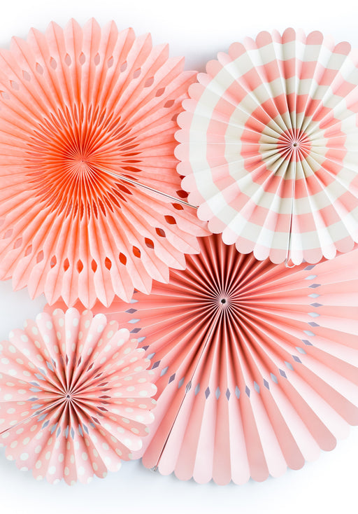Coral Party Fans, Partyware, My Mind's Eye - 3LittlePicks