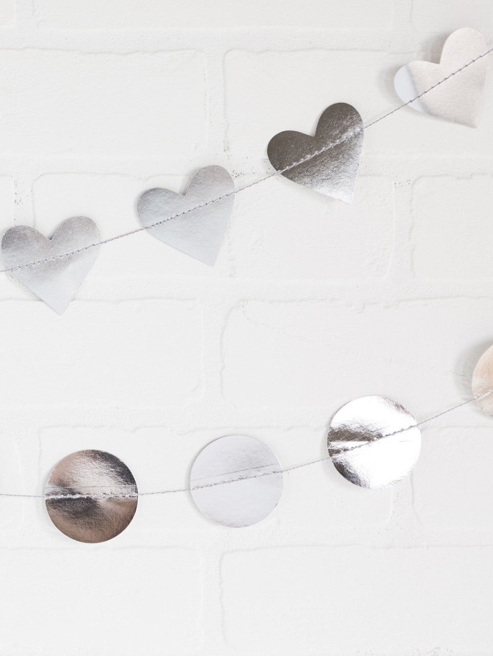 Silver Heart Banner, Partyware, My Mind