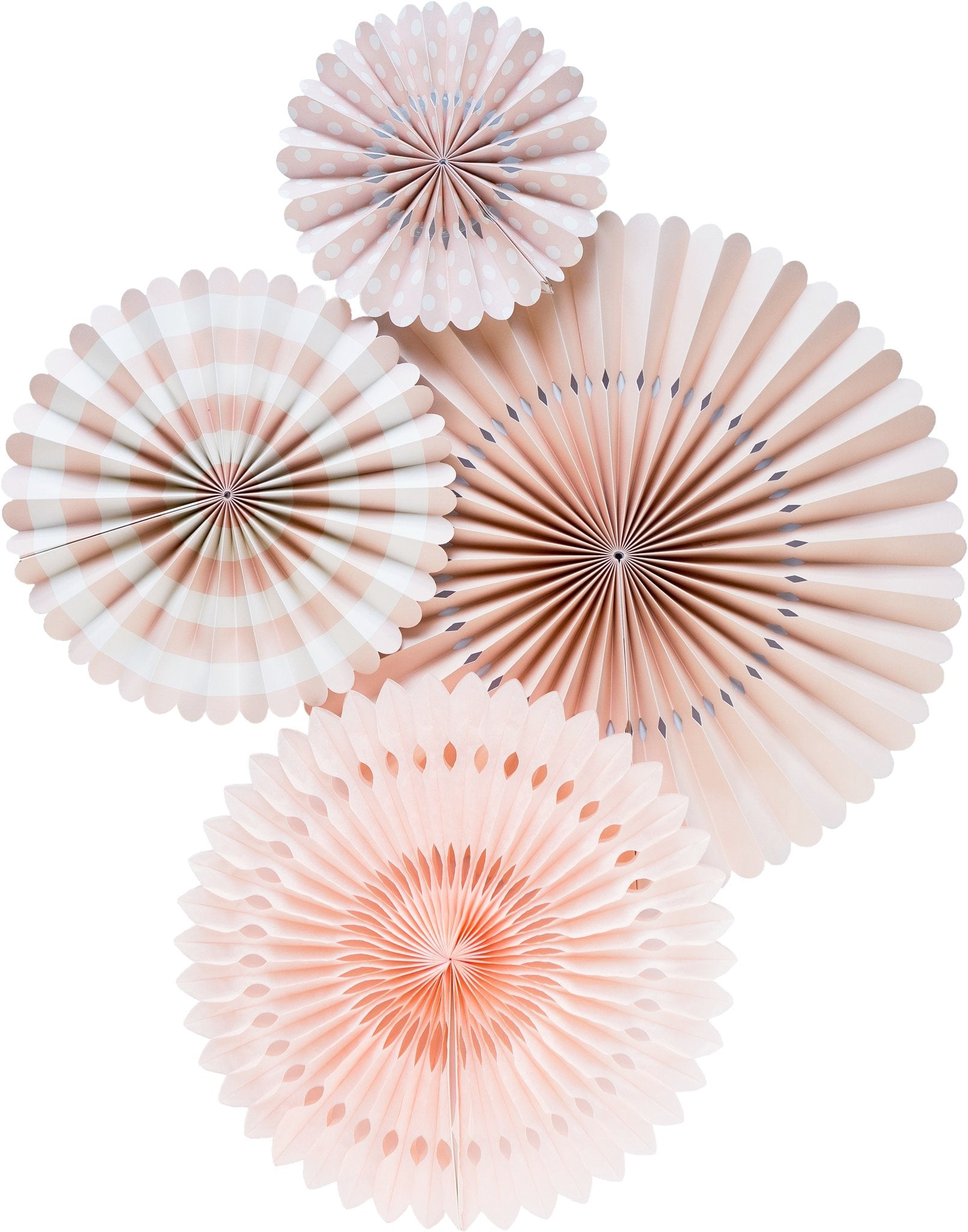 Blush Pink Fan Set, Partyware, My Mind's Eye - 3LittlePicks