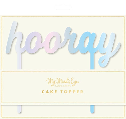 Holographic Hooray Cake Topper