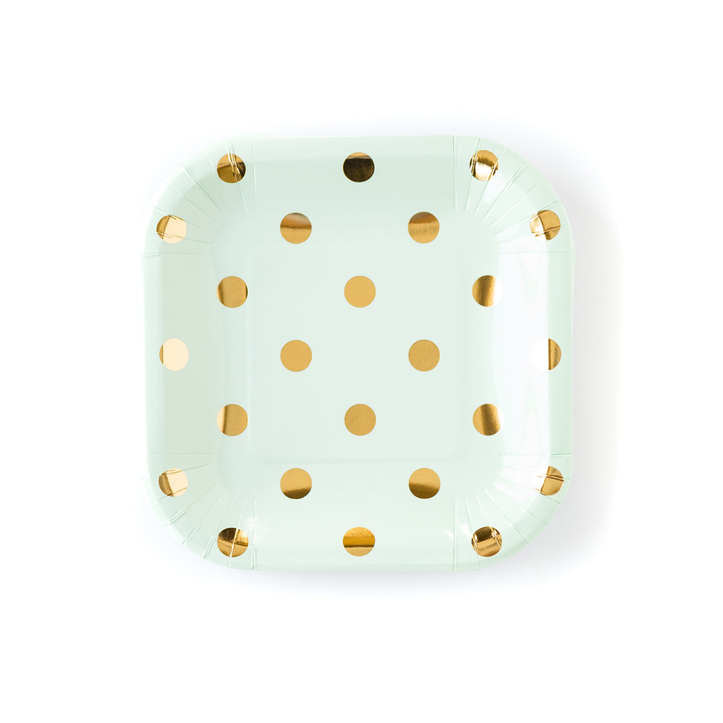 Golden Polka Party Plates, Partyware, My Mind's Eye - 3LittlePicks