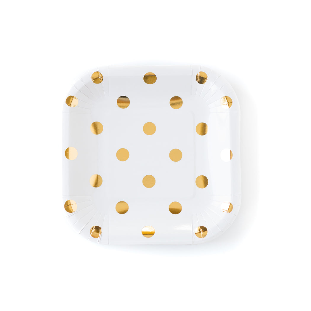 Golden Polka Party Plates