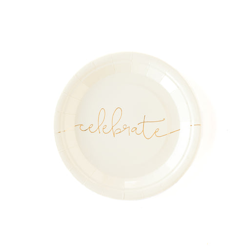 Chic Celebrate Party Paper Plates, Partyware, My Mind's Eye - 3LittlePicks