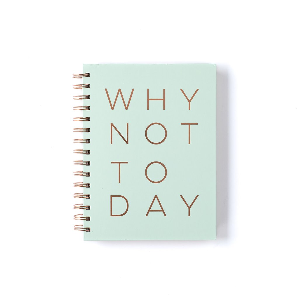 Why Not Today Spiral Notebook