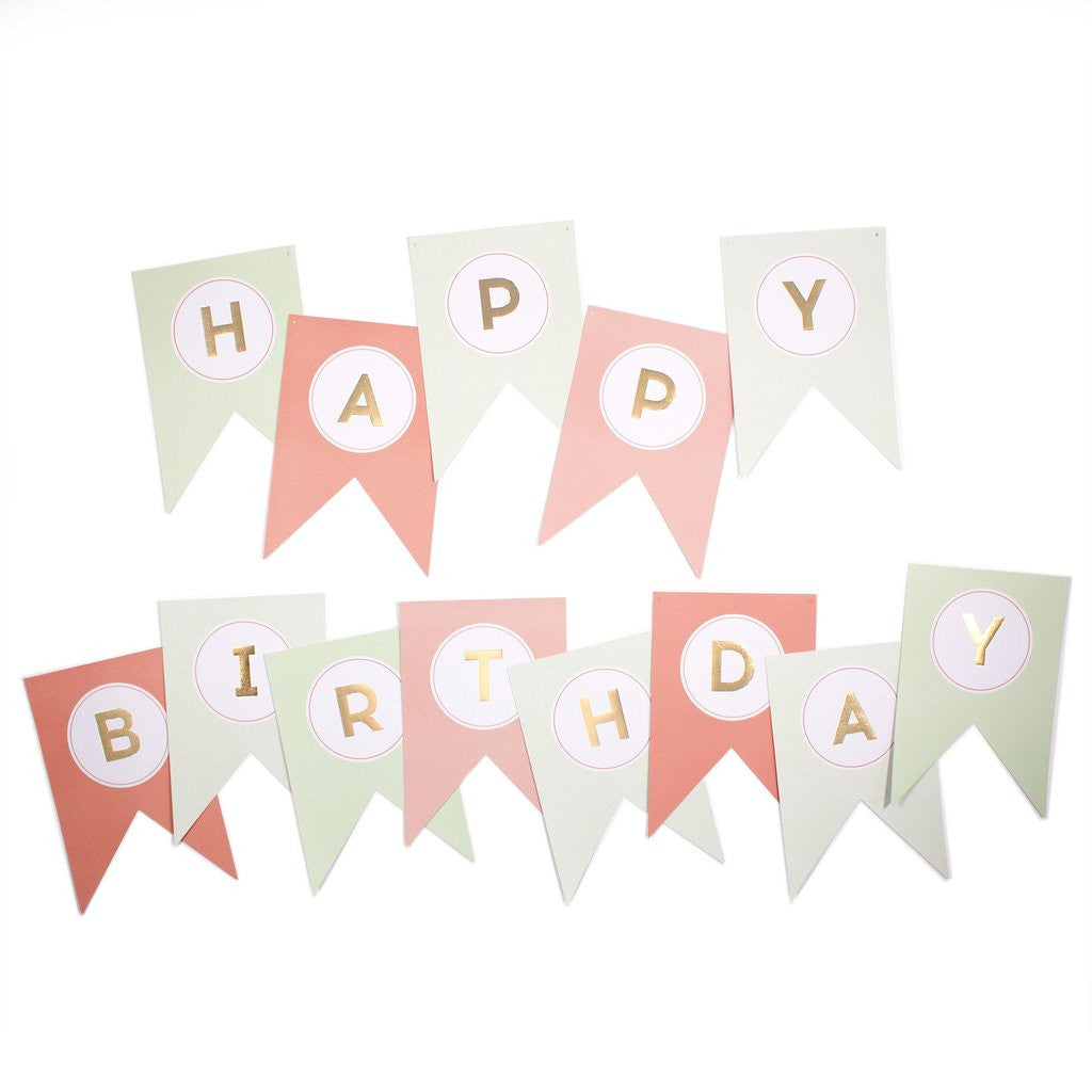 Trend Happy Birthday Banner, Partyware, My Mind's Eye - 3LittlePicks