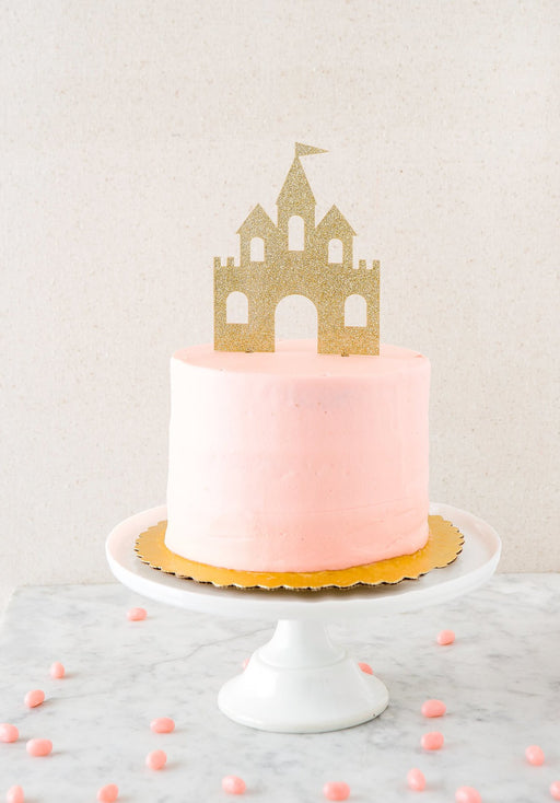 Princess Castle Acrylic Cake Topper, Partyware, My Mind's Eye - 3LittlePicks